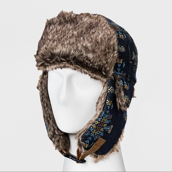 c6f14f0199a36f Goodfellow & Co Accessories | Nwot Faux Fur Trim Trapper Hat ...